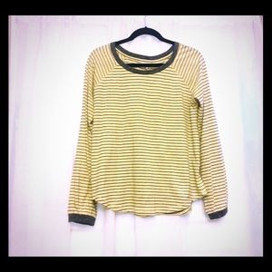 Puff longsleeve striped pullover  *comfy , NEW *